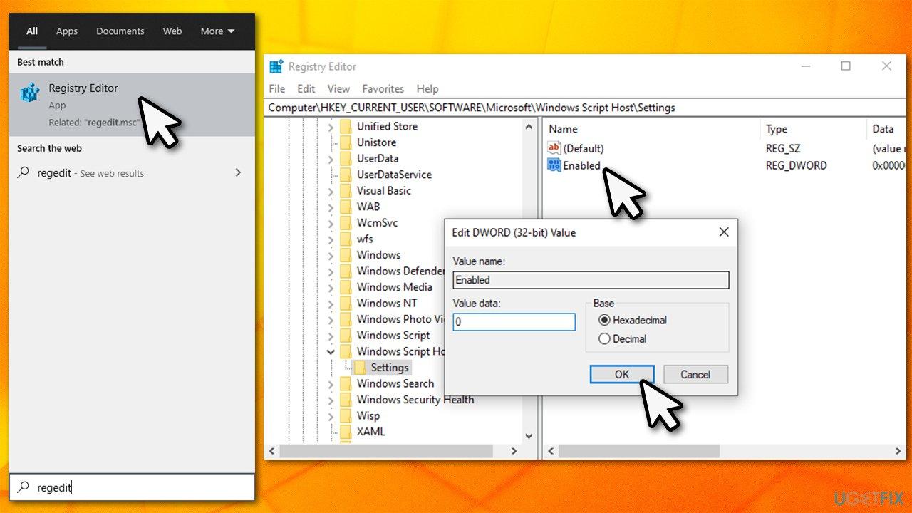 Disable Windows Script host