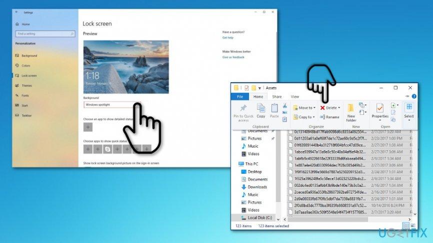 Delete assets folder
