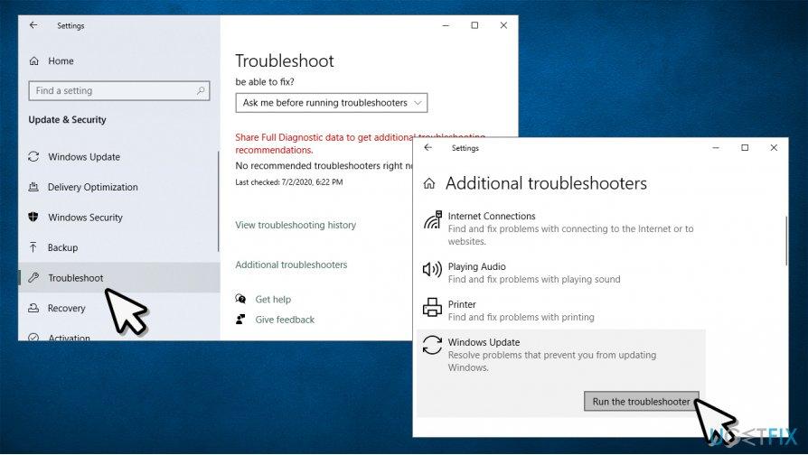 Run Windows Updates Troubleshooter