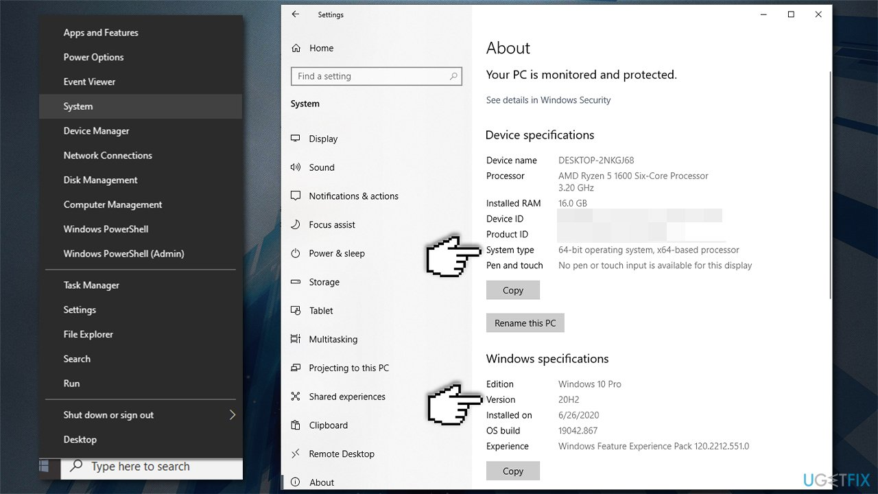 Check Windows version and architecture