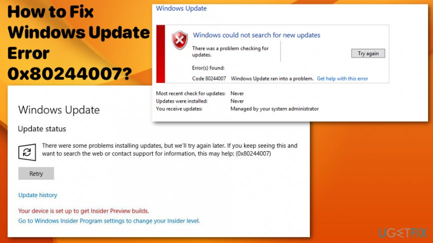 How to Fix Windows Update Error 0x80244007?
