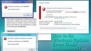 How to fix Windows Update Error Code 0x80080005?