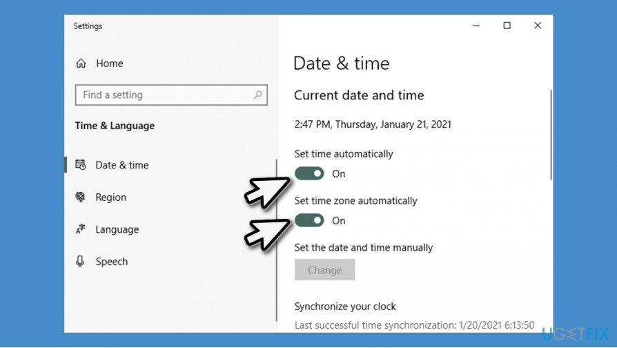 Check time settings
