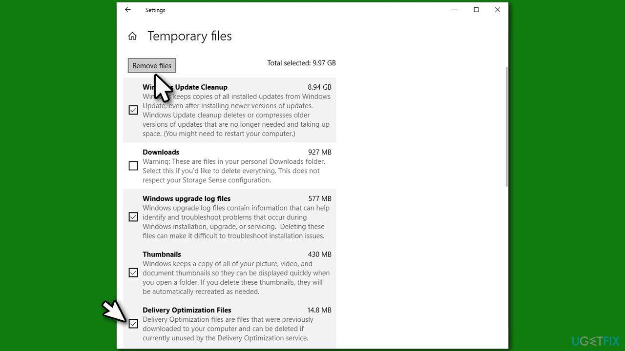 Delete Delivery Optimization files