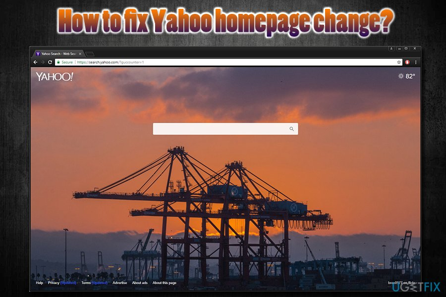 Fix Yahoo homepage change