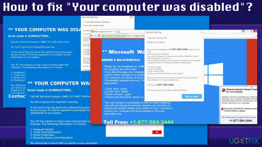 "How to fix ""Your computer was disabled"" alert"