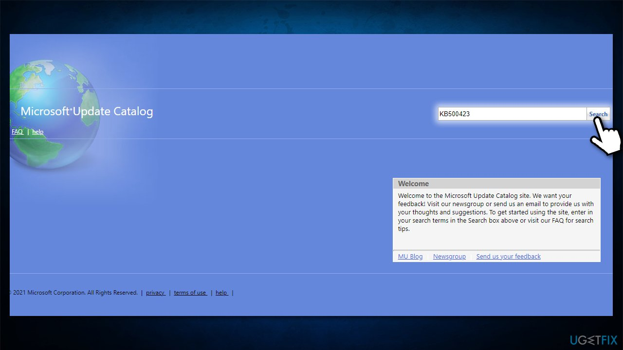 Visit Microsoft Update Catalog