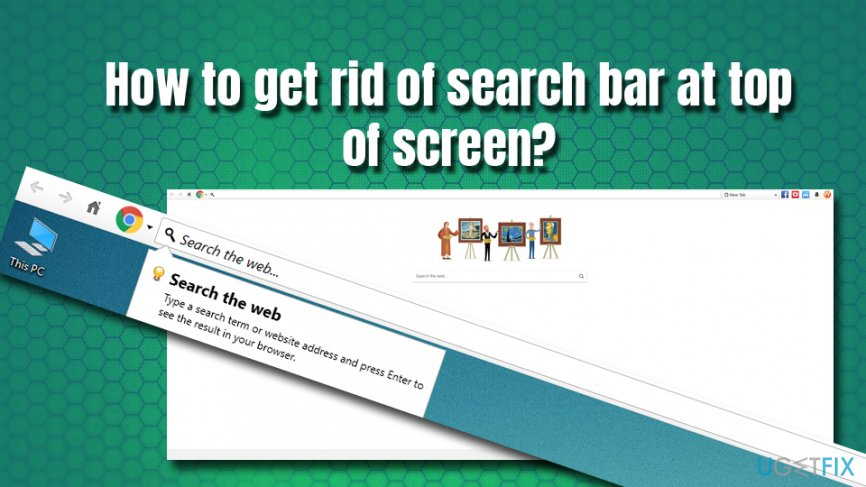 How To Get Rid Of Search Bar At Top Of Screen