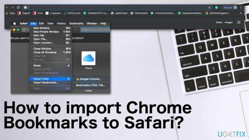 How to import Chrome Bookmarks to Safari?