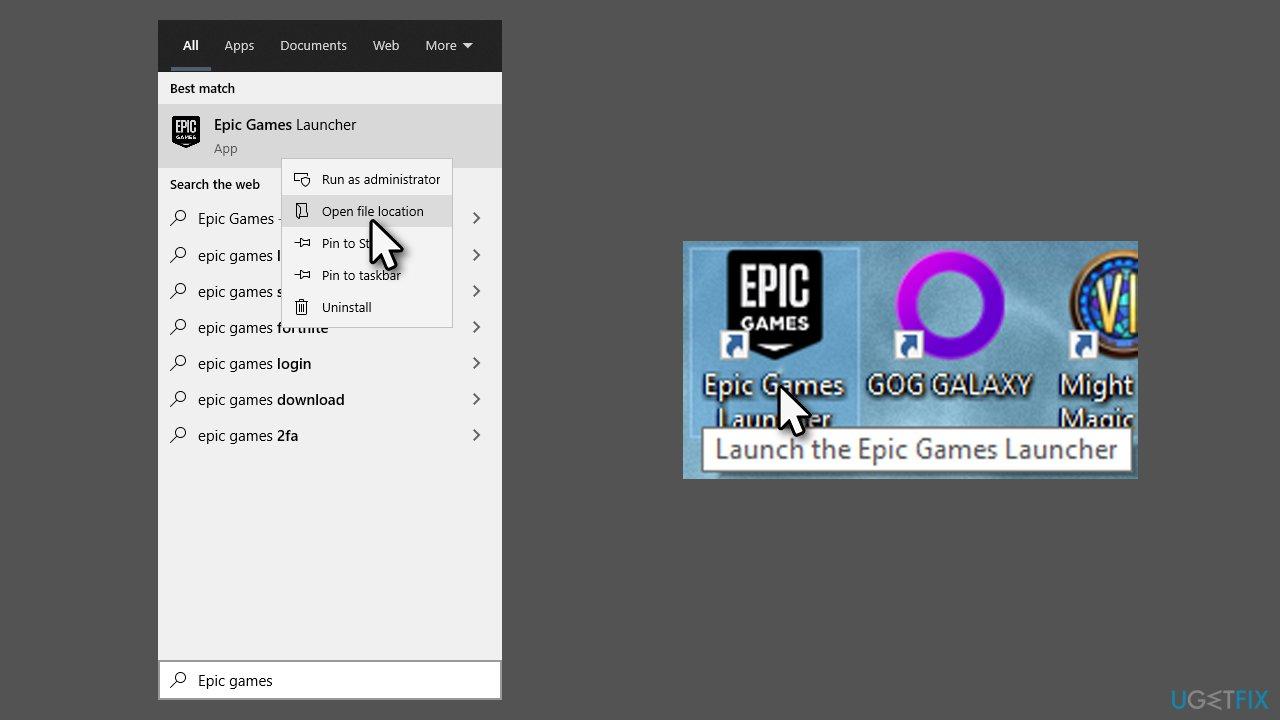Start Epic Games Launcher