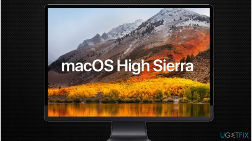 MacOS High Sierra installation