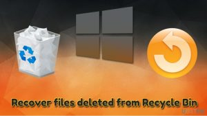 How to recover files deleted from Recycle Bin?