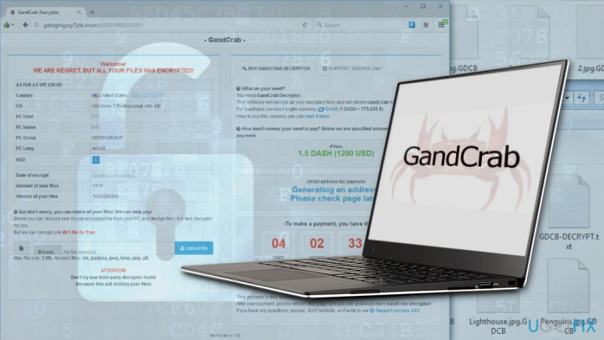 recover files encrypted by GandCrab ransomware