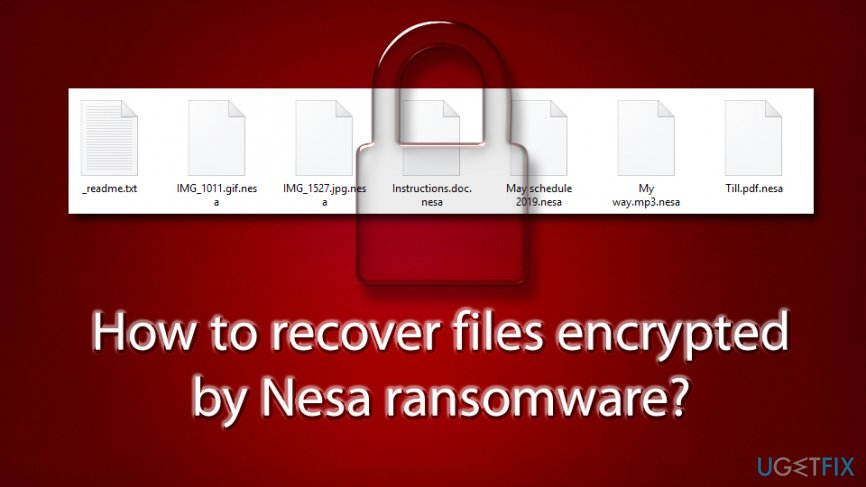 Recover files encrypted by .nesa