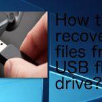 Restore USB files by manual technique