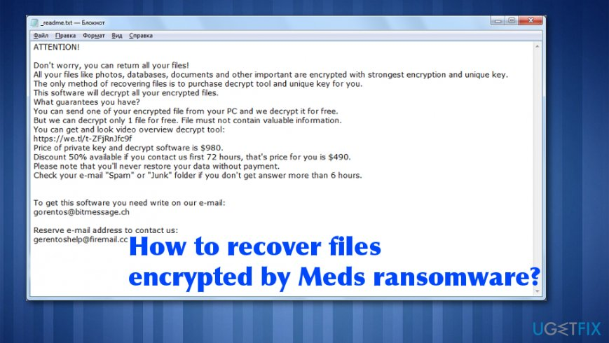 Meds ransomware encrypted files