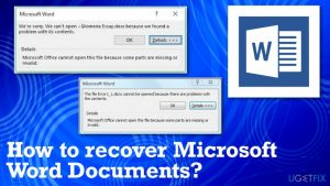 How to Recover Microsoft Word Documents?