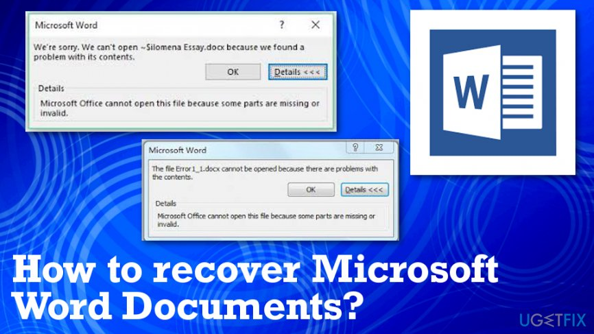 Recovering Microsoft Word files