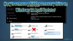How to remove a hidden recovery drive on Windows 10 April Update?