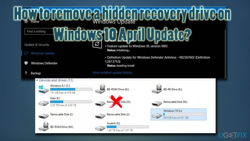 How to remove virtual drive after windows april update