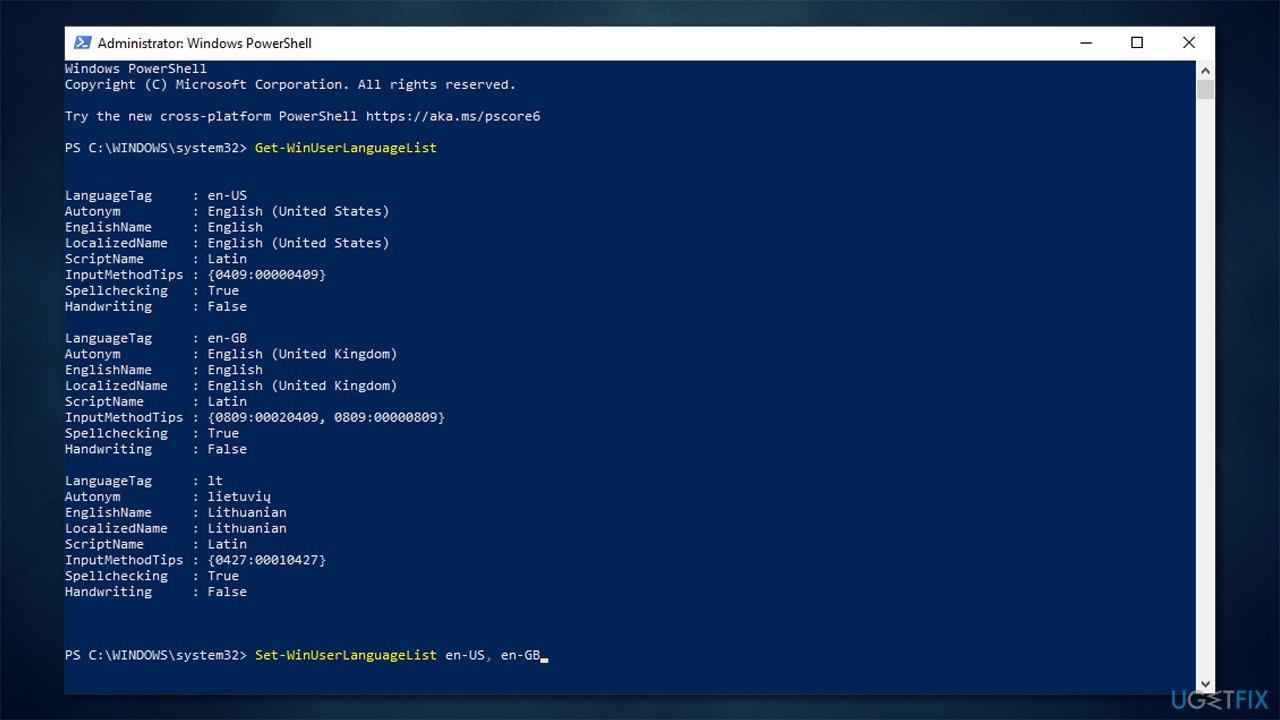 Use PowerShell commands 2