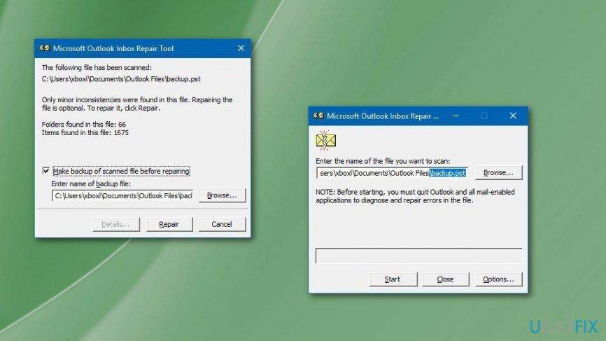 Outlook Inbox repair