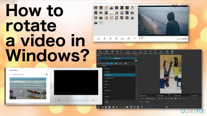 How to rotate a video in Windows