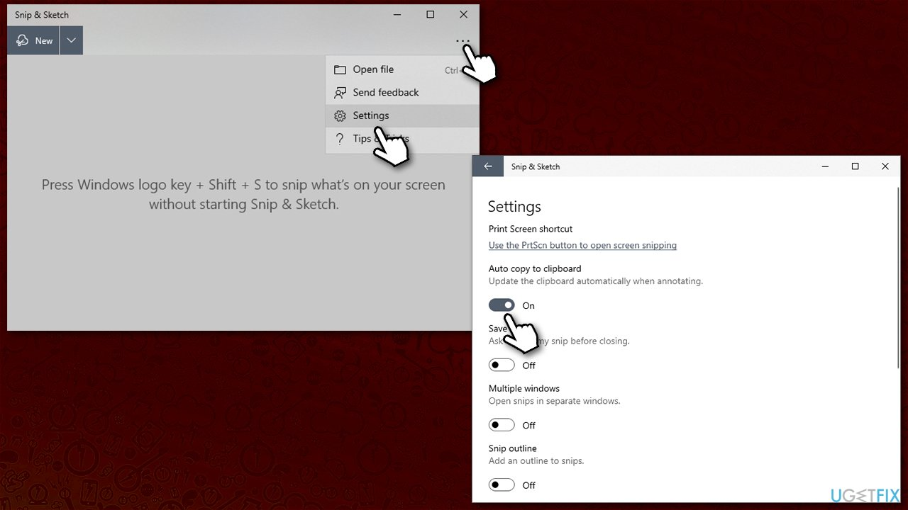 Enable clipboard autosave