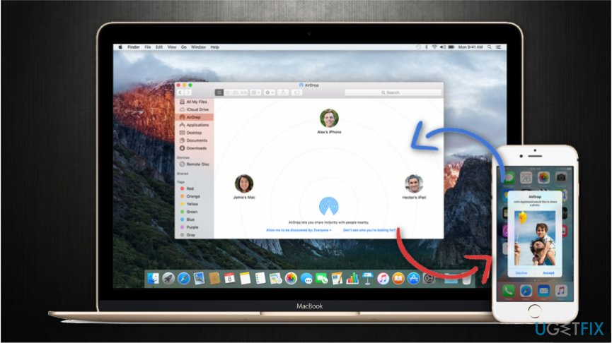The easiest way to transfer files from iPhone to Mac is using AirDrop