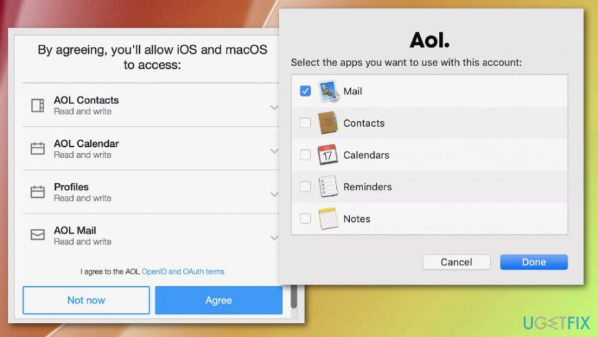 AOL email preferences