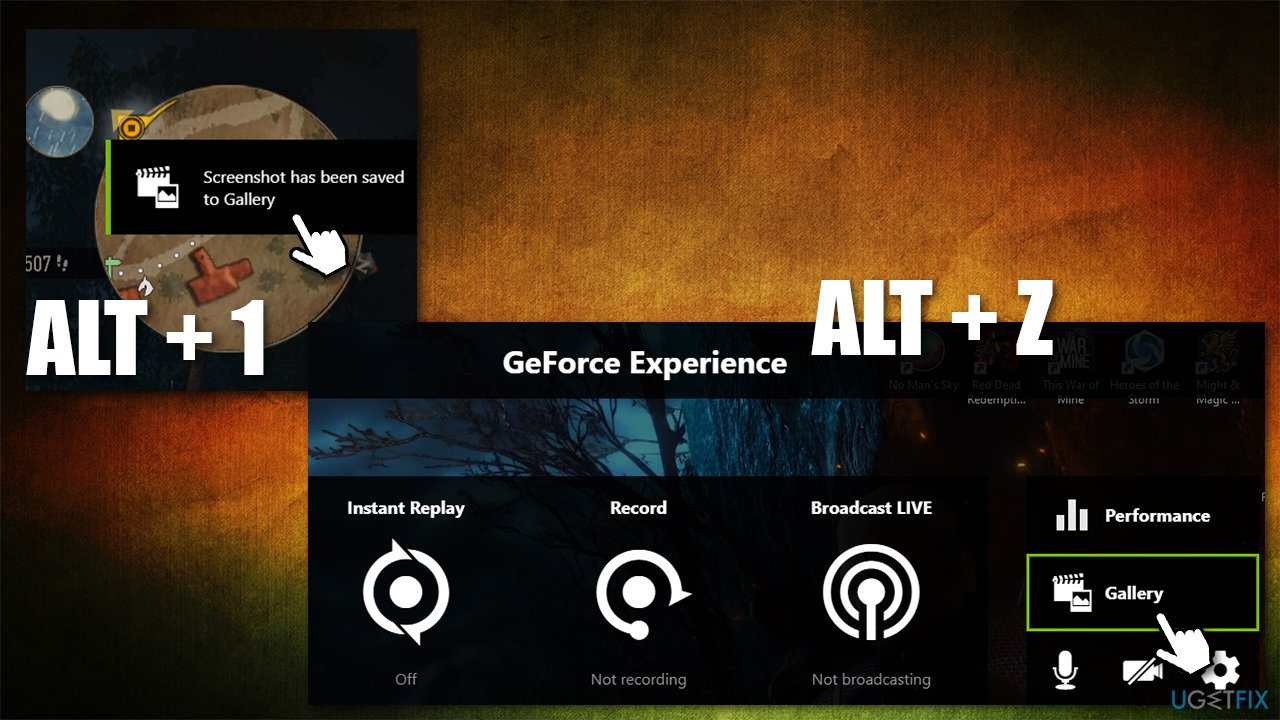 How to take a screenshot in-game with GeForce Experience