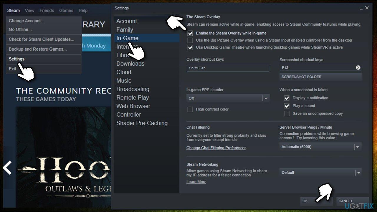 Use Steam overlay to take screenshots