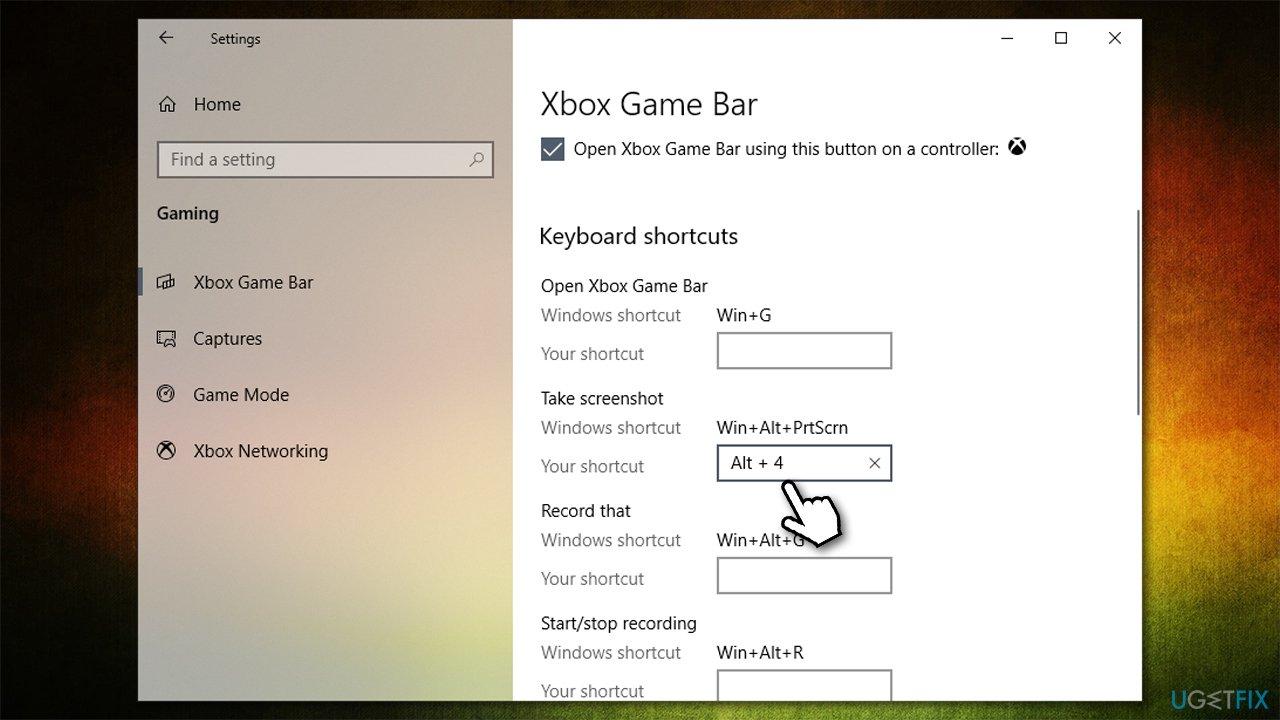 Change default shortcut for Game Bar