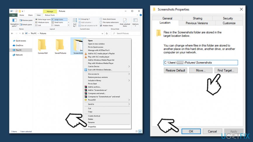 Automatically save screenshots