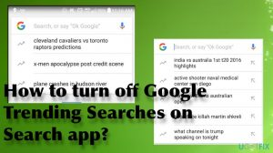 How to turn off Google Trending Searches on Search app?