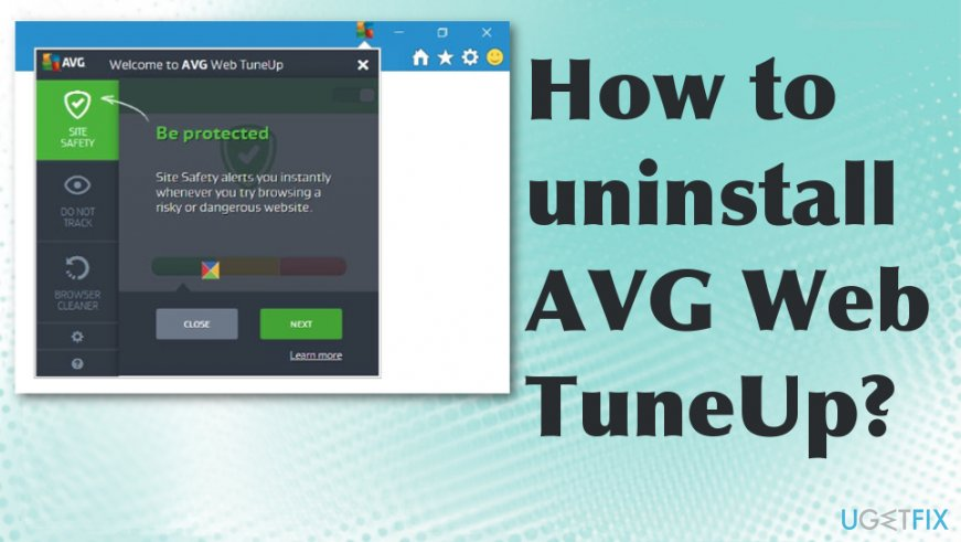 Uninstall AVG Web Tuneup