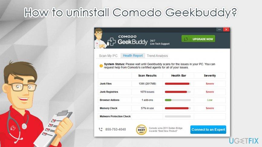 How to uninstall Comodo Geekbuddy?