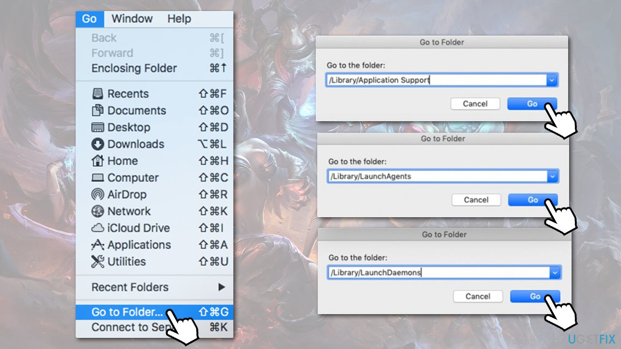 Remove leftover files from macOS