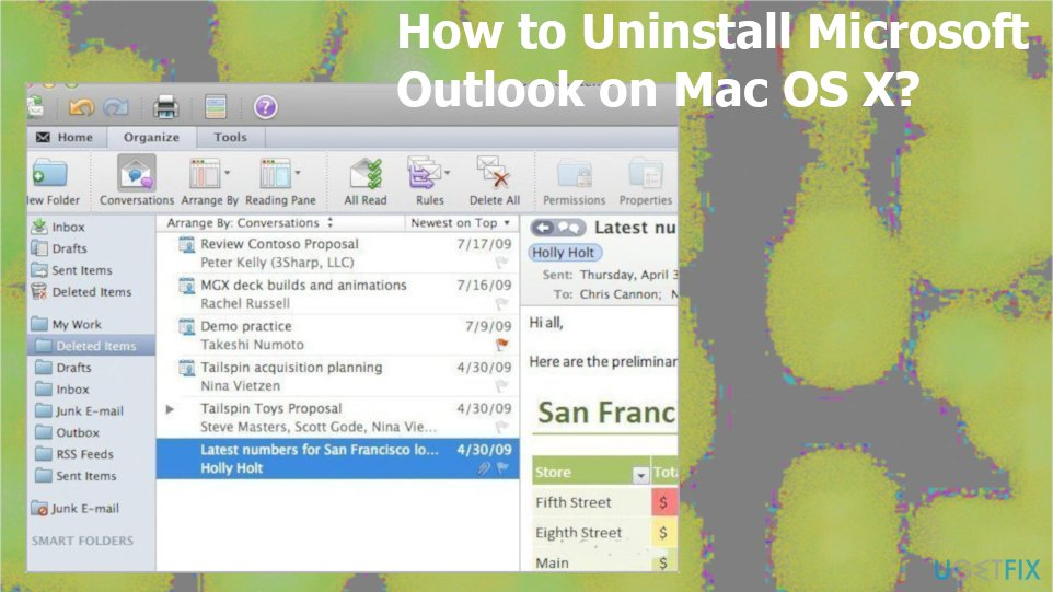 Uninstall Microsoft Outlook on Mac OS