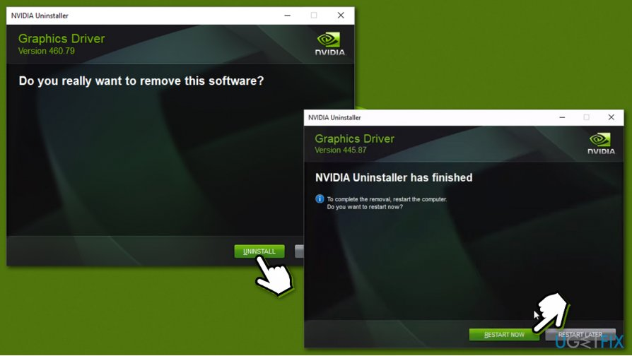 Proceed with Nvidia driver uninstall
