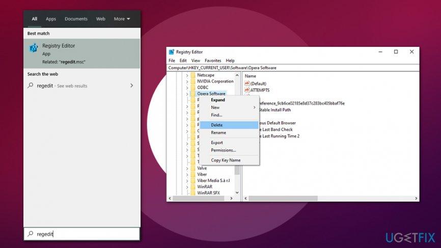 Access Windows registry