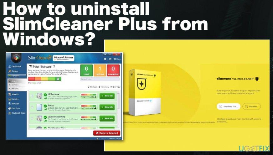 Uninstalling SlimCleaner Plus