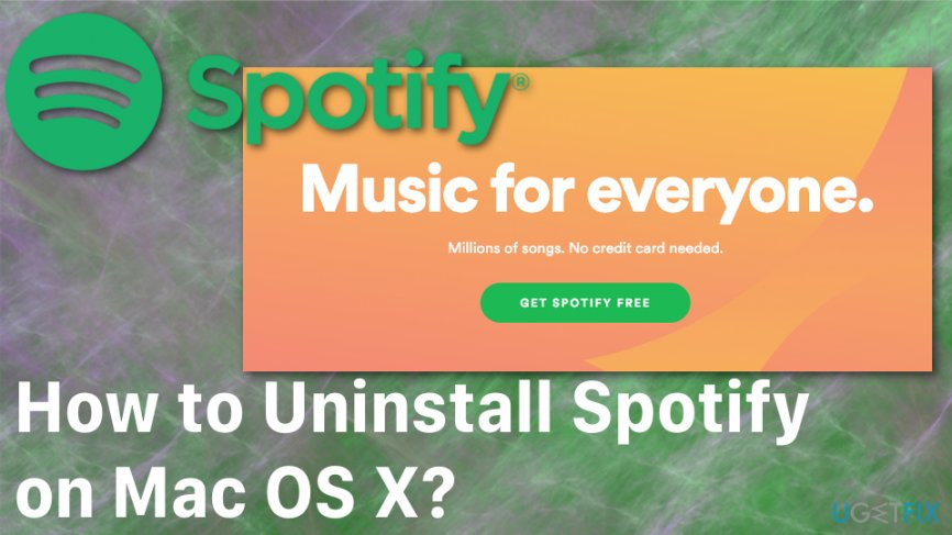How to uninstall Spotify from Mac