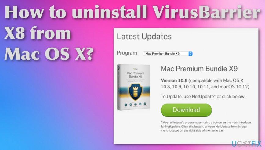 Uninstall VirusBarrier X8 from Mac OS X