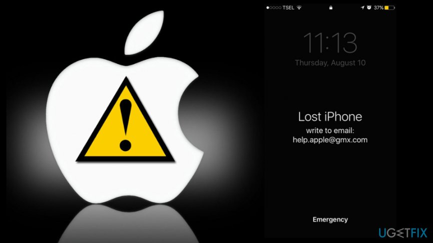 How to unlock Apple device after Help.apple@gmx.com ransomware attack