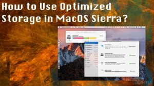 How to Use Optimized Storage in MacOS Sierra?