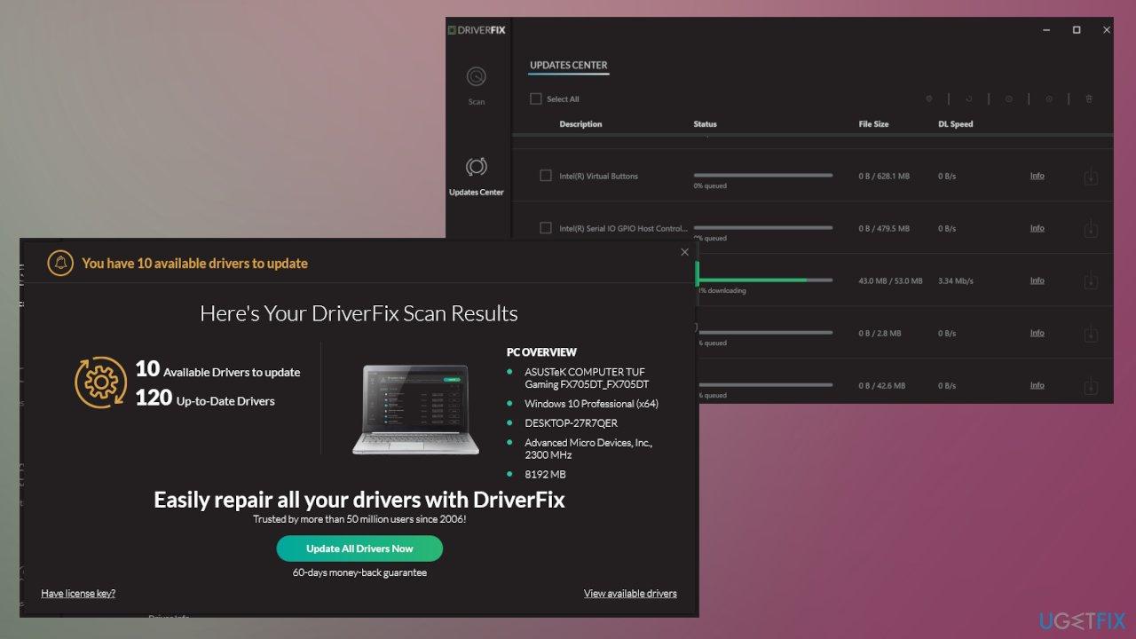 DriverFix option