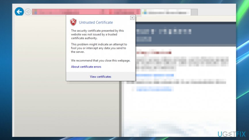 "Install certificates to remove ""This site is not secure"" error"