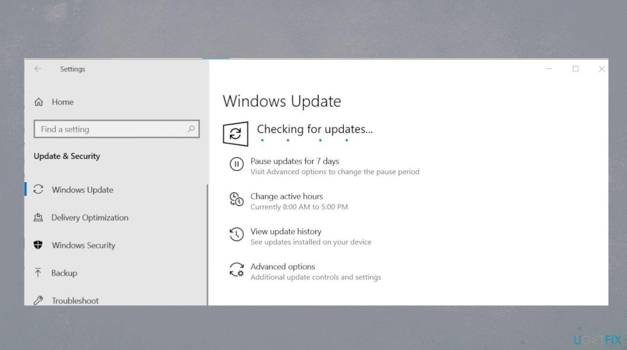 Windows OS update check