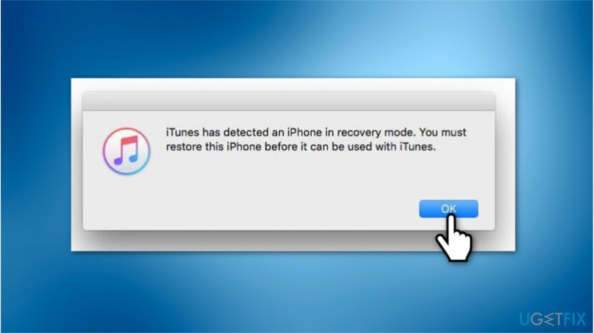 Reset iPhone using iTunes